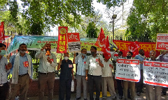 Demo by Trade Unions againstLabour Codes