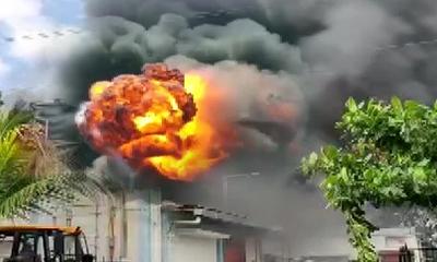 पुणे में सेनेटाईज़र बनाने वाली फैक्टरी में आग