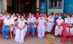 JNIMS_nurses_stage_sit-in_protest_over_7th_Pay_demandnurses_strike